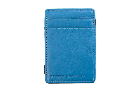 STATUS ANXIETY Magic Flip Leather Wallet Blue