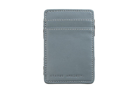 STATUS ANXIETY Magic Flip Leather Wallet Grey