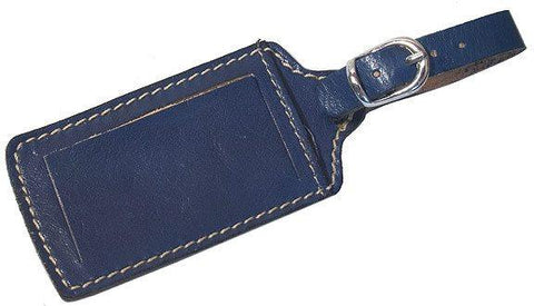 FLOTO Leather Luggage Tag Blue
