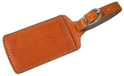 FLOTO Leather Luggage Tag Orange