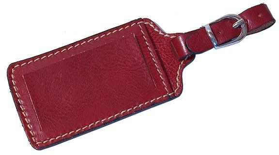 FLOTO Leather Luggage Tag Tuscan Red