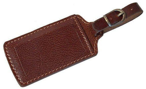 FLOTO Leather Luggage Tag Vecchio Brown
