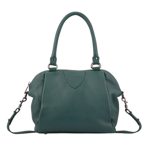 STATUS ANXIETY FORCE OF BEING LEATHER BAG GREEN WITH FREE WALLET