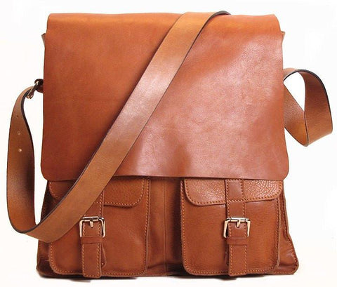 FLOTO Leather Forum Bag Tan Brown