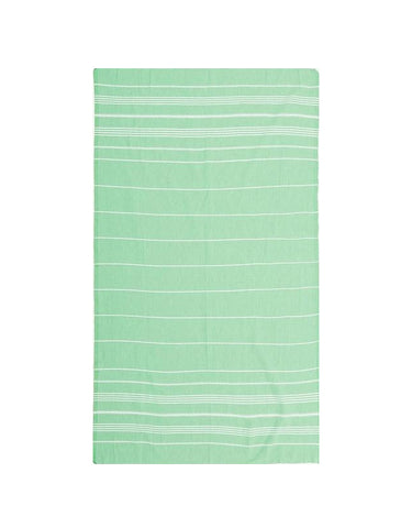 Miz Casa & Co French Riviera Turkish Towel Green