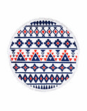 Miz Casa & Co French Round Terry Towel Navy Red