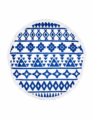 Miz Casa & Co French Round Terry Towel Blue