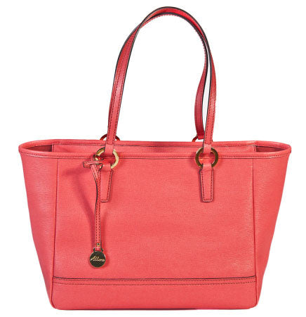 ALLORA Georgia Leather Shopper Tote Coral Pink