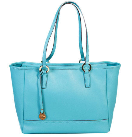 ALLORA Georgia Shopper Tote Turquoise Blue