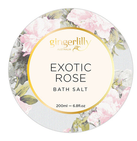 GINGERLILLY Exotic Rose Bath Salts