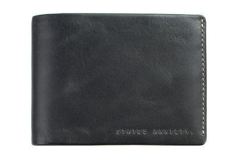 STATUS ANXIETY Hosea Leather Wallet Black
