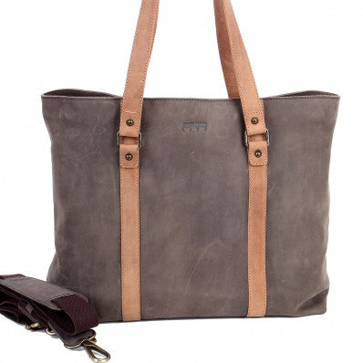 ZOOMLITE Vintage Leather Hudson Tote Brown