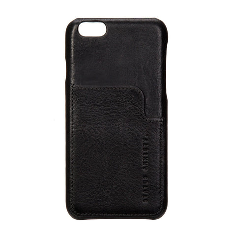 STATUS ANXIETY Hunter and Fox Leather iPhone 6 Plus Wallet Black