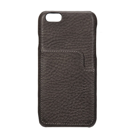 STATUS ANXIETY Hunter and Fox Leather iPhone 6 Wallet Stone Brown