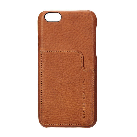STATUS ANXIETY Hunter and Fox Leather iPhone 7 Wallet Tan
