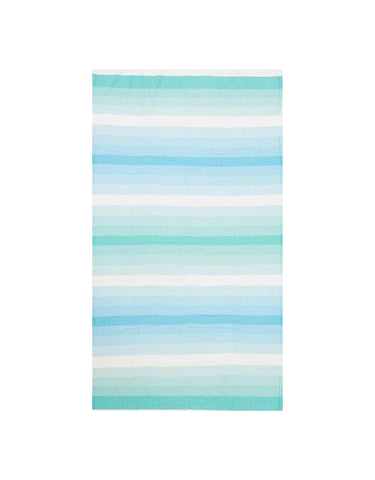 Miz Casa & Co Ibiza Turkish Towel Mint Green & Aqua Blue
