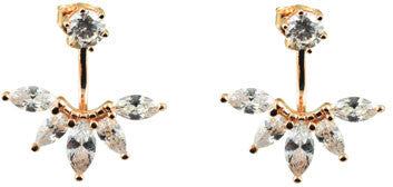 ICHU Ear Jacket Cubic Zirconia Rose Gold Stud Earrings