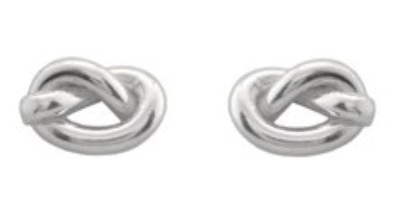 ICHU Love Knot Stud Sterling Silver Earrings