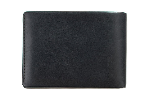 STATUS ANXIETY Jonah Leather Wallet Black