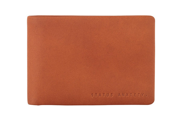 STATUS ANXIETY Jonah Leather Wallet Camel