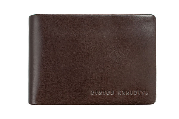 STATUS ANXIETY Jonah Leather Wallet Chocolate