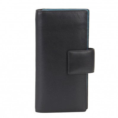 ZOOMLITE Leather RFID Jetset Large Card/ Travel Wallet Black
