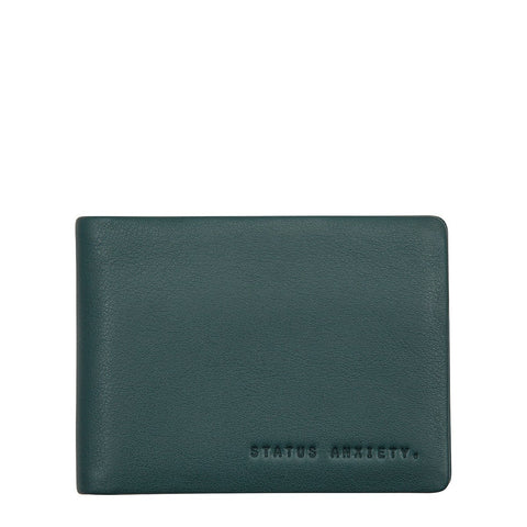 STATUS ANXIETY JONAH LEATHER WALLET TEAL GREEN