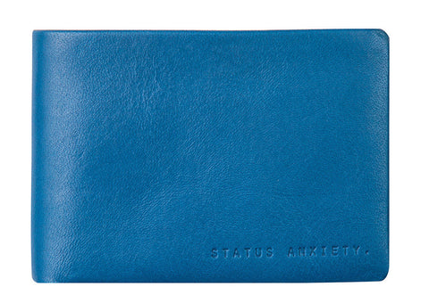 STATUS ANXIETY Jonah Leather Wallet Blue