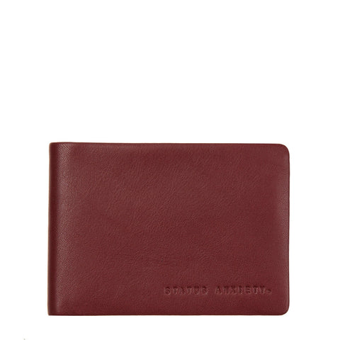 STATUS ANXIETY Jonah Leather Wallet Cognac