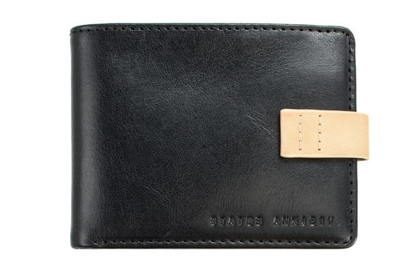 STATUS ANXIETY Josiah Leather Wallet Black