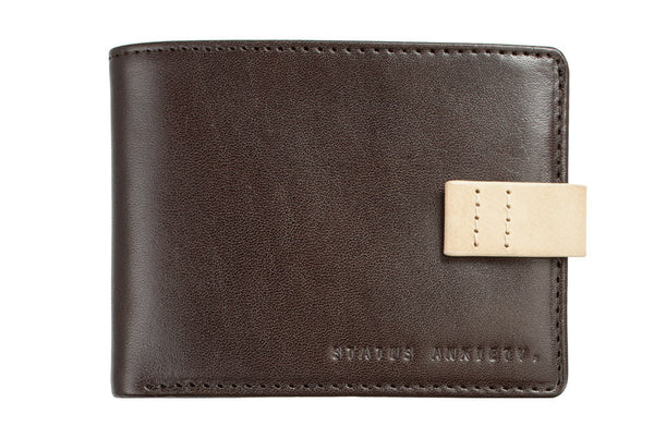 STATUS ANXIETY Josiah Leather Wallet Chocolate