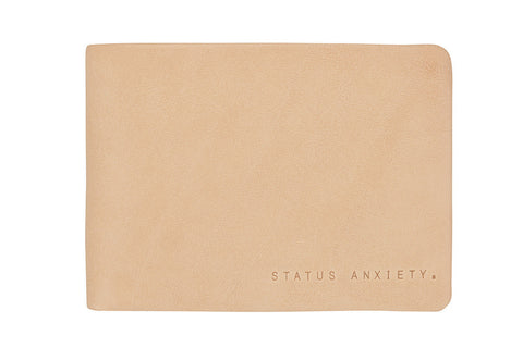 STATUS ANXIETY Jonah Leather Wallet Tan