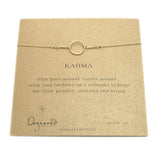 DOGEARED Karma Necklace - Gold Dipped