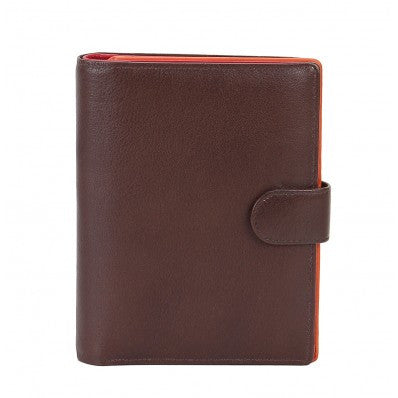 ZOOMLITE Leather RFID Kay Medium Credit Card Wallet Chocolate