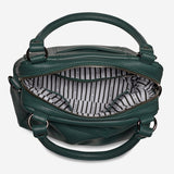 STATUS ANXIETY LAST MOUNTAINS LEATHER HANDBAG/SHOULDER BAG GREEN WITH FREE WALLET