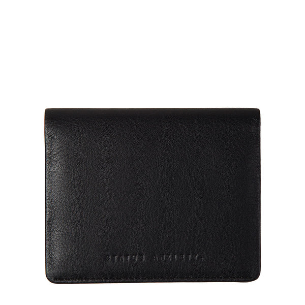 STATUS ANXIETY LENNEN LEATHER SLIM WALLET BLACK