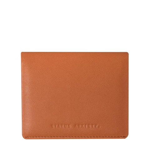 STATUS ANXIETY LENNEN LEATHER SLIM WALLET CAMEL BROWN