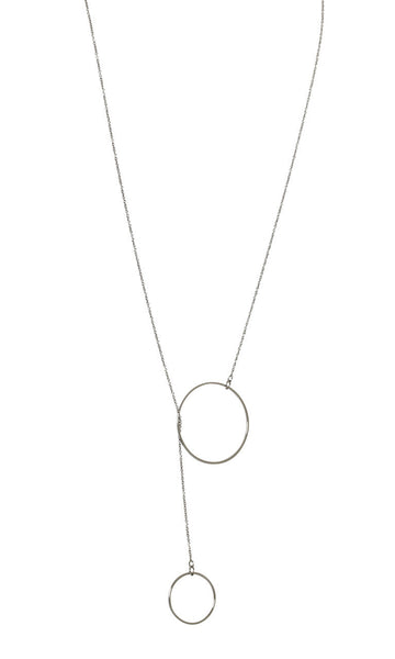 LISA FREEDE Lasso Necklace Silver