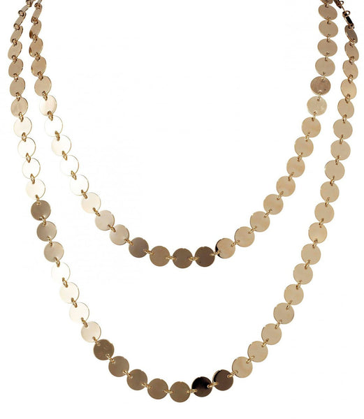 LISA FREEDE Metallic Palette Necklace Gold