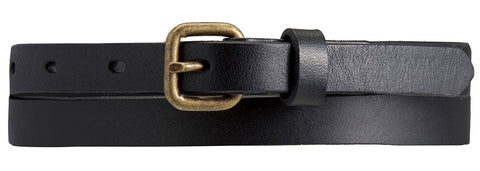 STATUS ANXIETY Only Lovers Left Leather Belt Black