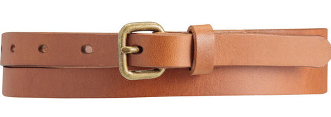 STATUS ANXIETY Only Lovers Left Leather Belt Tan