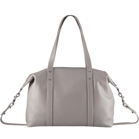 STATUS ANXIETY Love and Lies Leather Bag Light Grey FREE WALLET
