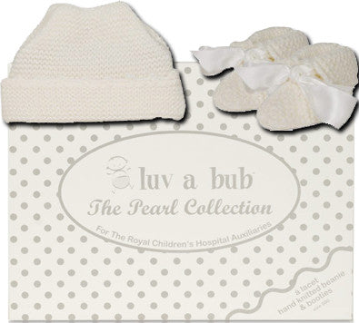 Knit Booties & Beanie Set - Luv A Bub Royal Children's Hospital