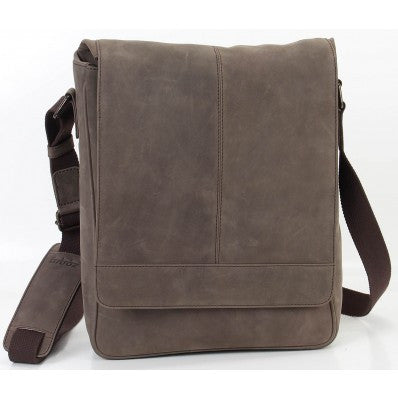 ZOOMLITE Vintage Leather Manhattan Messenger Bag Brown