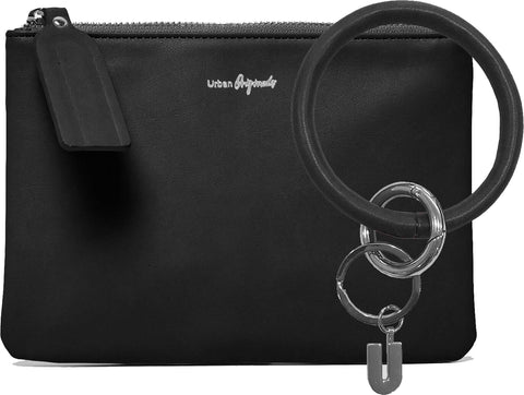URBAN ORIGINALS Mariposa Pouch Wallet & Keyring Set Black