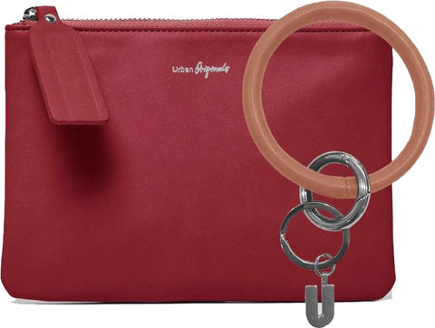 URBAN ORIGINALS Mariposa Pouch Wallet & Keyring Set Cranberry Red