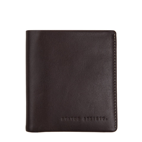STATUS ANXIETY Merv Leather Wallet Chocolate Brown
