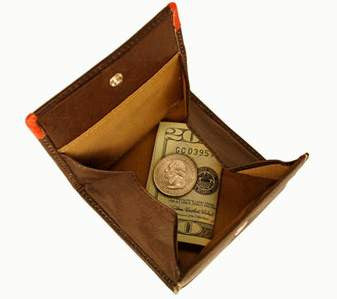 FLOTO Milano Collection Leather Coin Pocket
