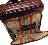 FLOTO Milano Leather Backpack Vecchio Brown