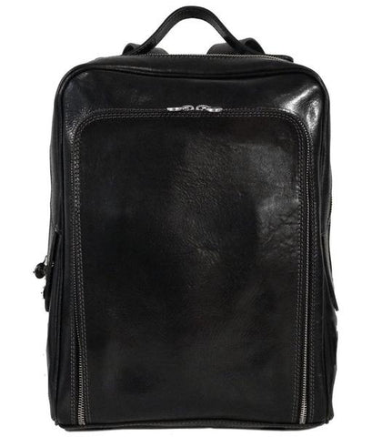 FLOTO Milano Leather Backpack Black